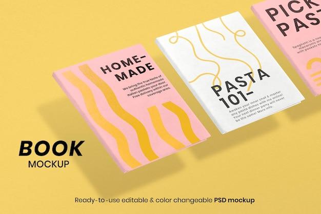 Maqueta de portada de libro abstracto psd papelería