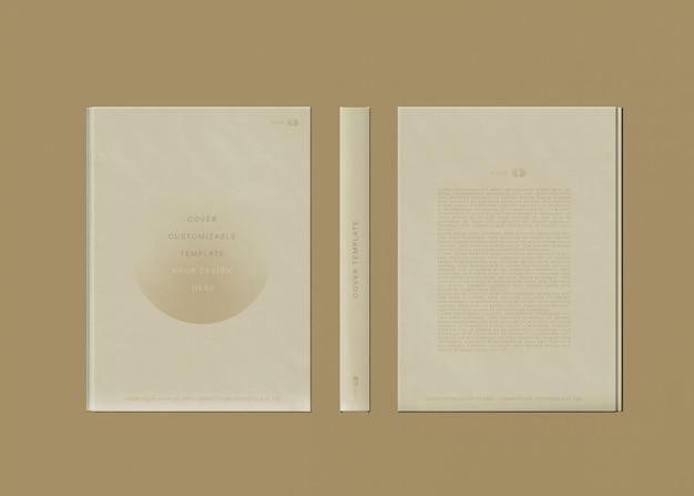 Maqueta de portada de libro delantera y trasera