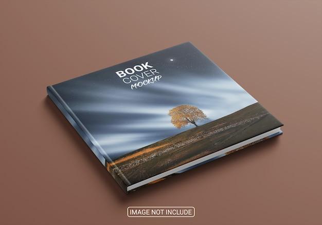 Maqueta de portada de libro minimalista de alto ángulo