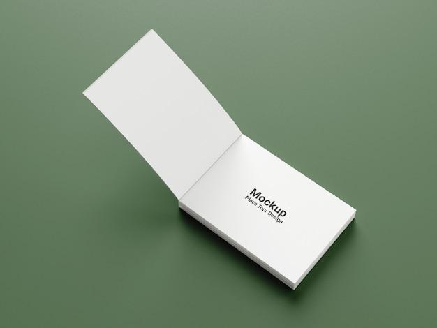 Maqueta de portada de libro de paisaje de vista lateral