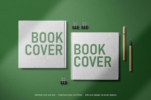 Maqueta de portada de libro de papelería de marca