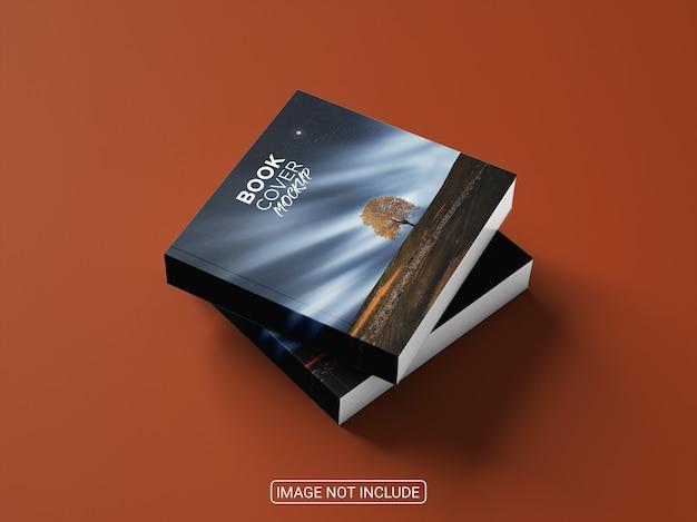 Maqueta de portada de libro realista cuadrada