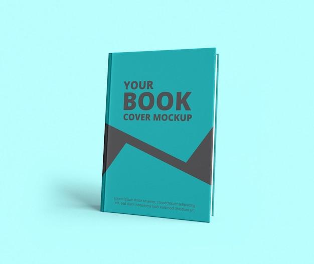 Maqueta de portada de libro de vista frontal realista