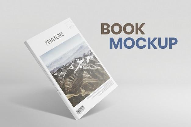 Maqueta de portada de revista psd con imagen de la naturaleza