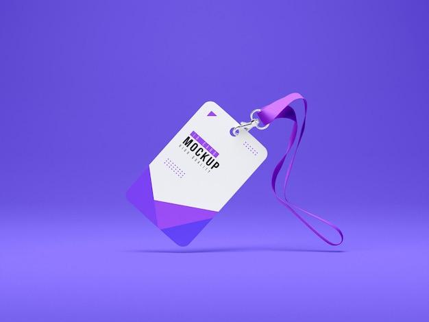 Maqueta de portatarjetas de identificación