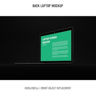 Maqueta de portátil negro