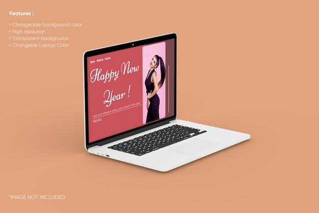 Maqueta de portátil de pantalla completa