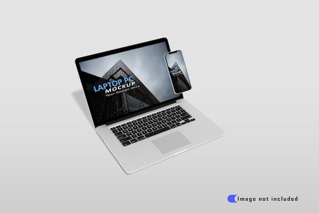 Maqueta de portátil realista premium psd