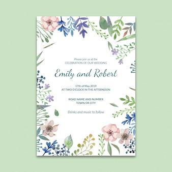 Maqueta de post de red social con concepto de boda