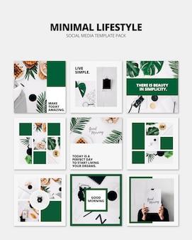 Maqueta de post de red social con concepto de lifestyle