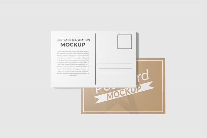 maqueta de postal e invitación
