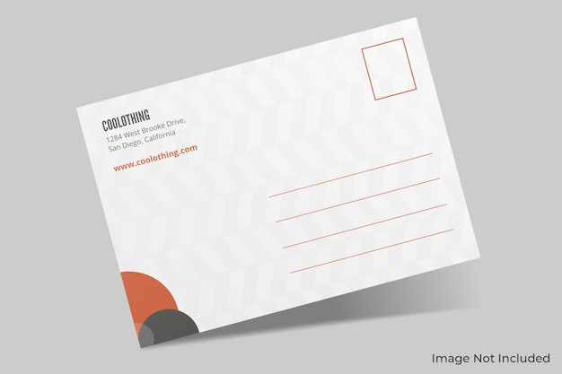 Maqueta de postal elegante