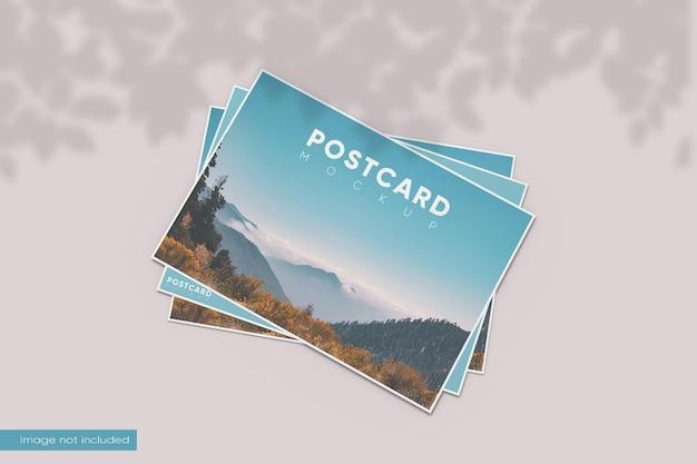 Maqueta de postal de vista superior