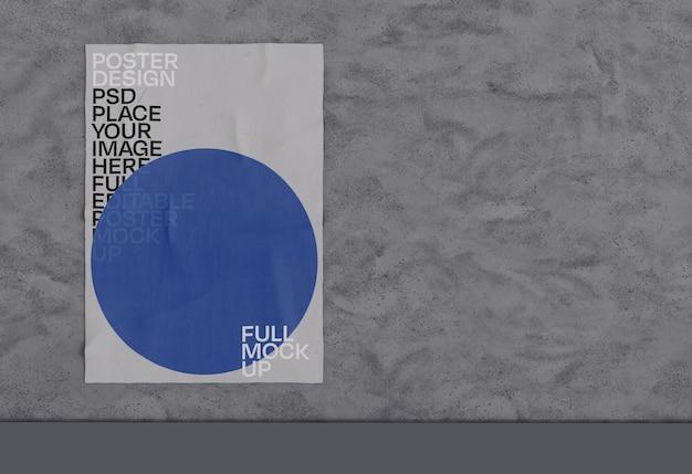 Maqueta de póster arrugado