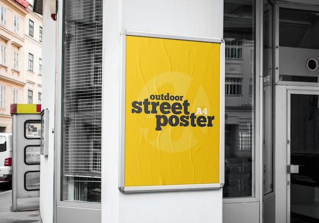 Maqueta de póster de calle al aire libre