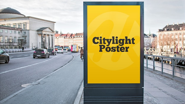 Maqueta de póster de citylight