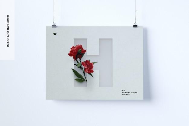 Maqueta de póster colgante de paisaje
