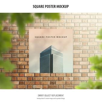 Maqueta de póster cuadrado