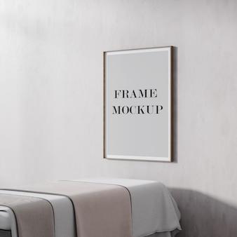 Maqueta de póster fino y marco de imagen