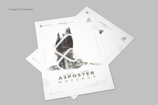 Maqueta de póster en perspectiva PSD gratuito