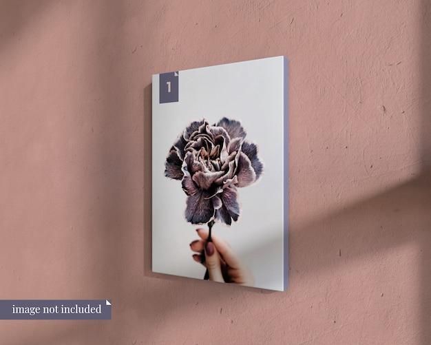 Maqueta de póster simple en la pared