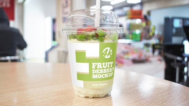 Maqueta de postre de frutas