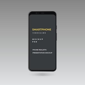 Maqueta de presentación de la aplicación android para teléfono inteligente