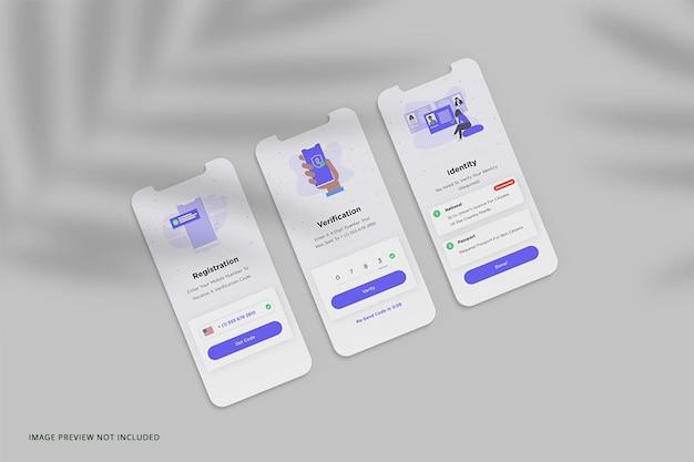 Maqueta de presentación de la aplicación de teléfono en pantalla