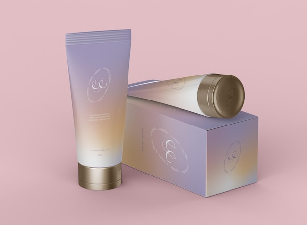 Maqueta de producto cosmético