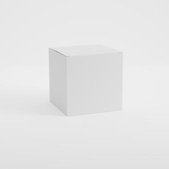 Maqueta de producto de embalaje de caja en renderizado 3d