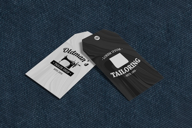 Maqueta de producto de etiqueta de ropa