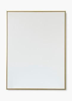 Maqueta psd de marco dorado fino con espacio de diseño