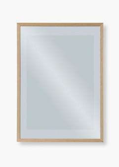 Maqueta psd de marco de madera mínimo con espacio de diseño