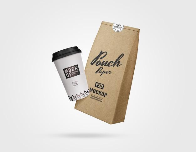 Maqueta de publicidad de café