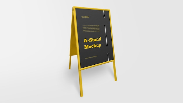 Maqueta de publicidad exterior a stand