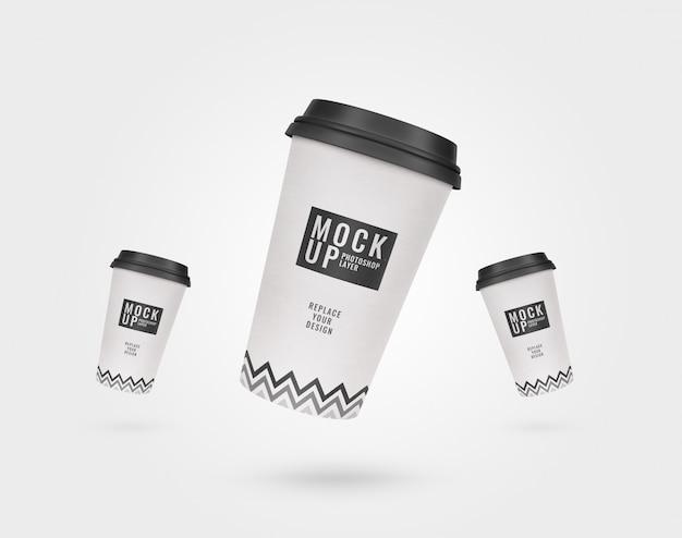 Maqueta de publicidad de taza de café
