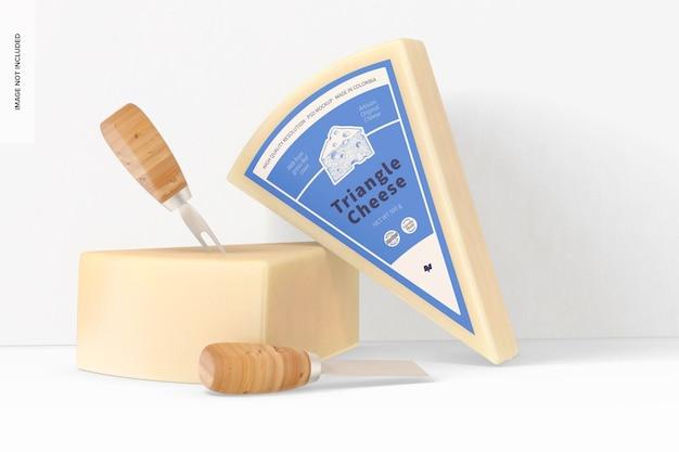 Maqueta de queso triangular