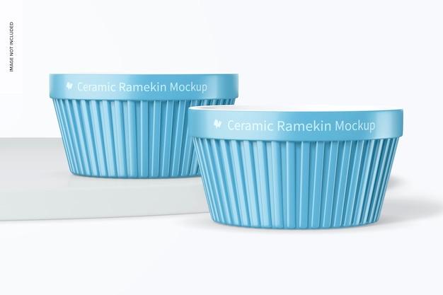 Maqueta de ramekins de cerámica