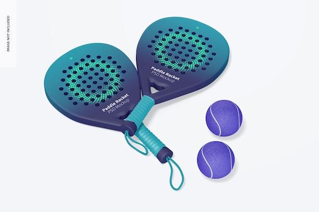 Maqueta de raquetas de padel