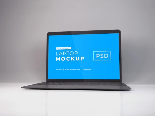 Maqueta realista para computadora portátil