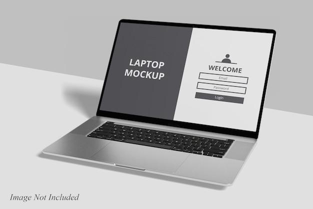 Maqueta realista de laptop pro