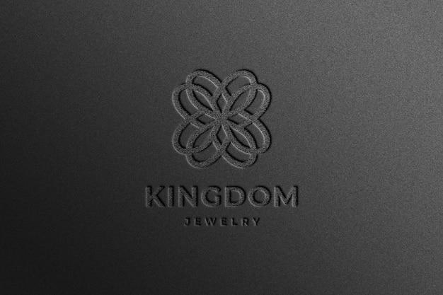 Maqueta realista del logotipo de la empresa en relieve