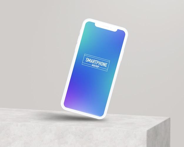 Maqueta realista de teléfono inteligente. maqueta limpia de teléfonos inteligentes