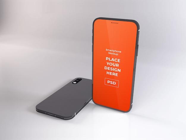 Maqueta realista de teléfono inteligente