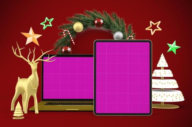 Maqueta receptiva de navidad