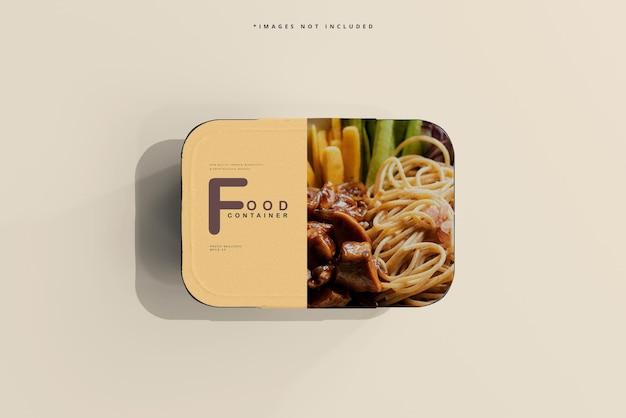 Maqueta de recipiente de comida de gran tamaño