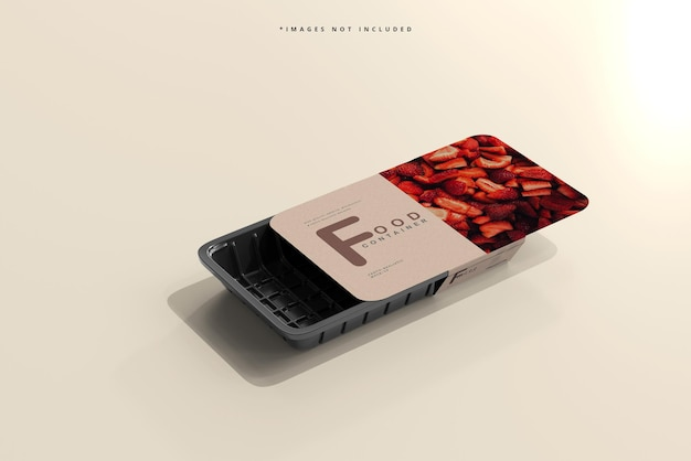 Maqueta de recipiente de comida de tamaño pequeño