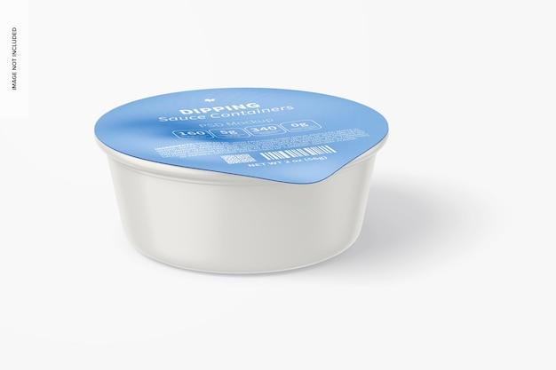 Maqueta de recipiente de salsa para mojar