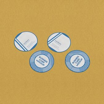 Maqueta redonda de tarjetas de visita