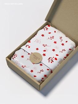 Maqueta de regalo de toalla